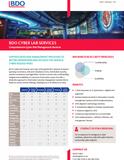 BDO Cyber Lab Services