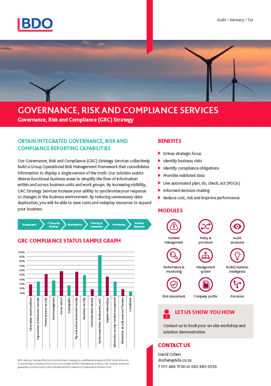 Governance, Risk and Compliance Services
