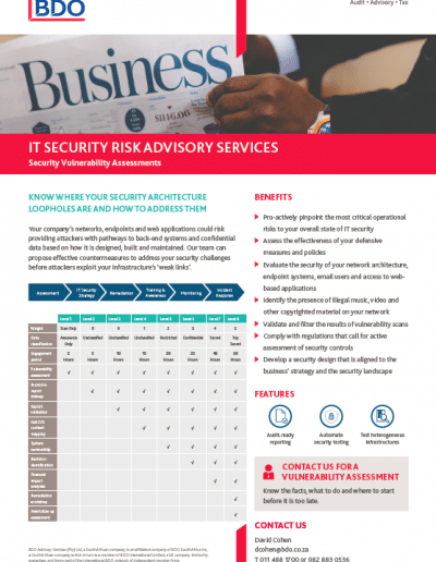 IT Security Risk Advisory Services