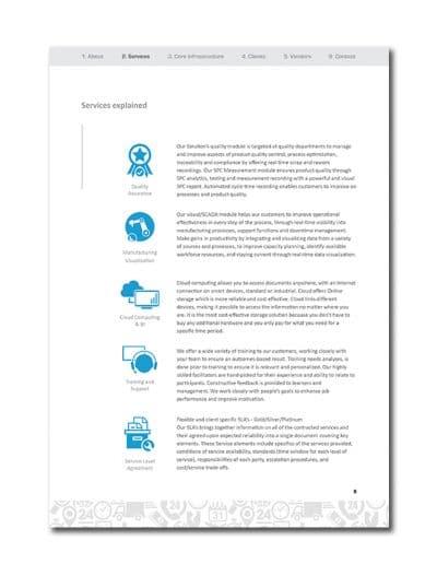 IoT Company Profile Page 11