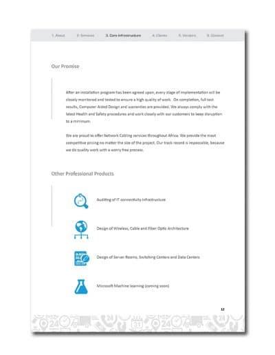 IoT Company Profile Page 15