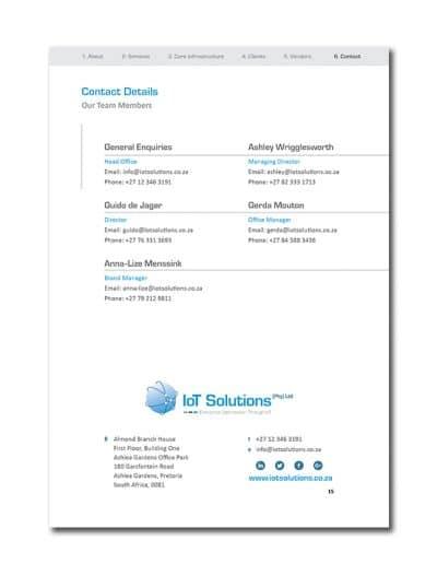 IoT Company Profile Page 18