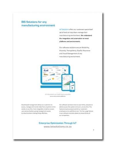 IoT Company Profile Page 2