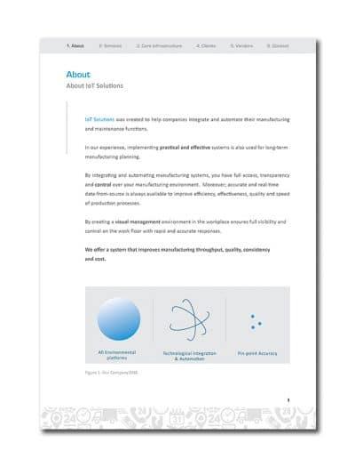 IoT Company Profile Page 4