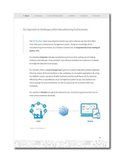 IoT Company Profile Page 5