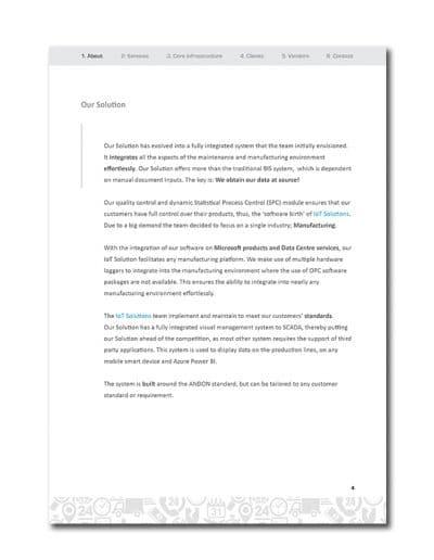 IoT Company Profile Page 7