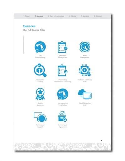 IoT Company Profile Page 9
