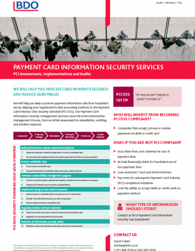 Payment Card Information Security Services
