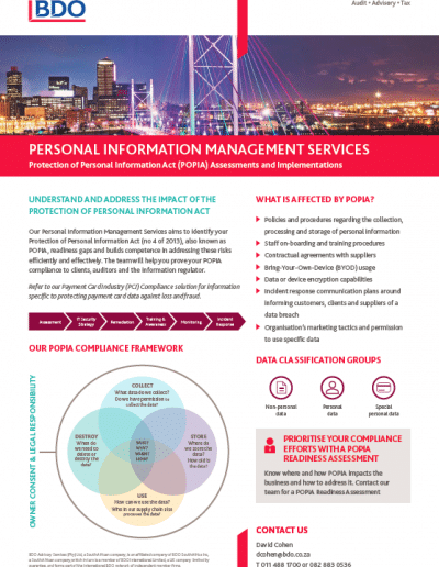 Personal Information Management Services